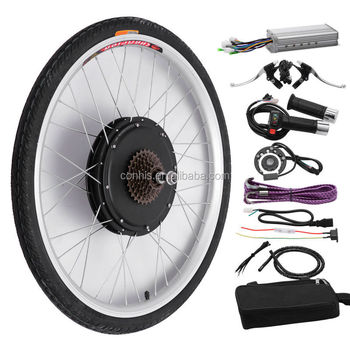September NEW style,7 speed+diac brake,48V 1000W Rear Wheel electric bike conversion kits with brushless gearless hub motor