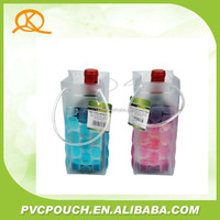 Custom high quality pvc gel wine bottle cooler bag