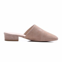 New Design Low Platform Comfort Closed Toe Mules Slippers 2017 Ladies