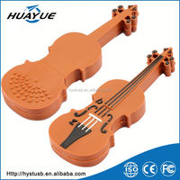 Promotional item from China Silicone violin usb stick print logo on item cheap usb wolesale