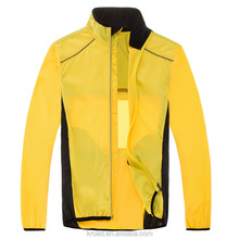 Hot selling Best quality bike waterproof breathable bicycle cycling jacket yellow rain coat