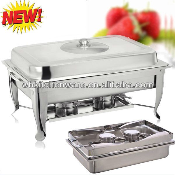 Big QTY Loading/New Design Glass Window Lid Stainless Steel Chafing Dish