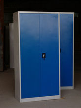 metal ventilated wardrobe,clothing storage cabinet,home furniture,large bedroom armoire