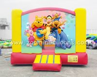2016 Best selling inflatable bouncer castle cartoon theme with good quality Z1093