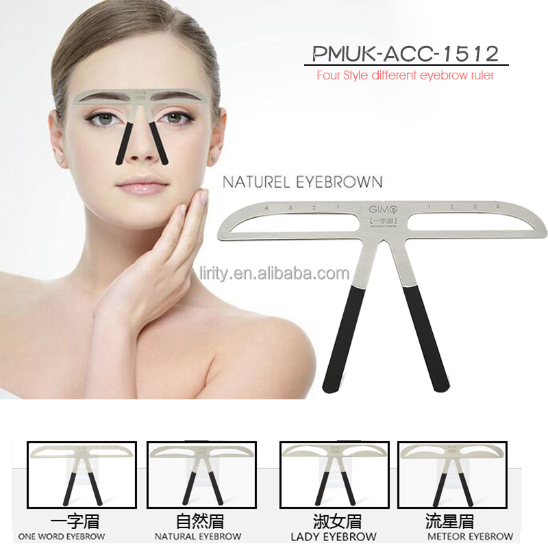 4 shape 3D Balance Tattoo Eyebrow Ruler Permanent makeup eyebrow template stencil Shaper Beauty Eyebrow Makeup Measure Tool