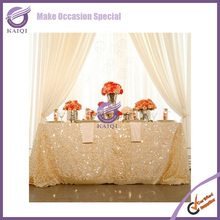 18804 new collection silver sequin tablecloth hot sale glitter sequin table cloth for wedding printed stretch cover