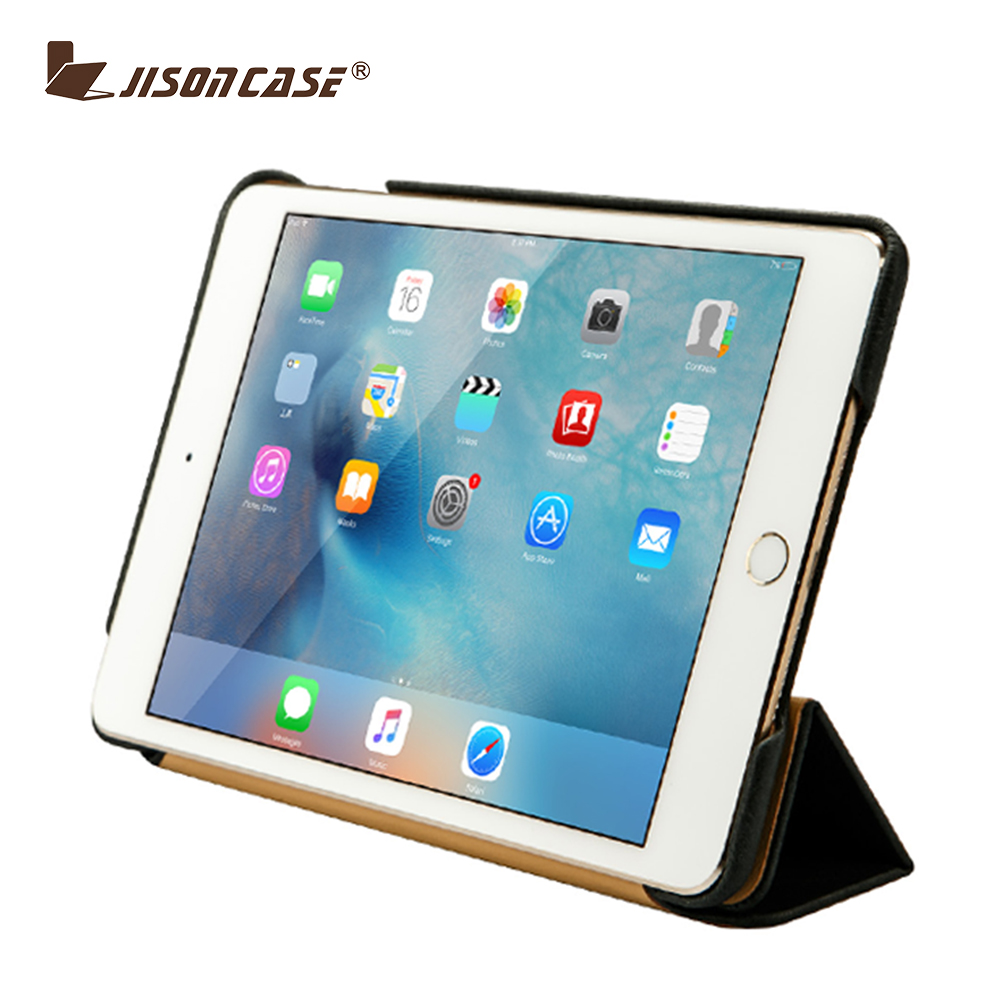Ultra Slim Case for iPad Mini 4 Cover Magnetic Folio genuine Leather Smart Cover for iPad mini 4