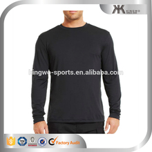 Professional polyester mens long sleeve sports dry fit t-shirt