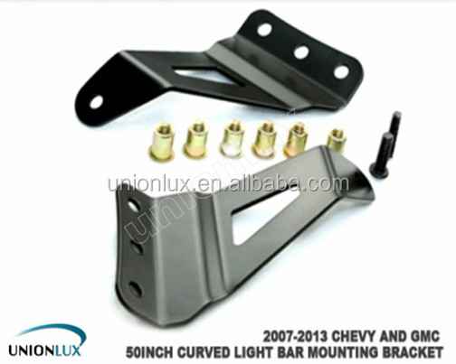 Brackets for 07-13 Chevy and GMC truck mounting brackets for 50 inch curved led light bar