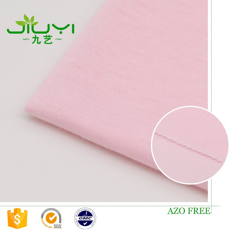 high quality wholesale pink100% spun polyester tie dyed jersey fabric