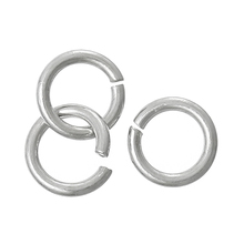 Wholesale Platinum Plated 4mm 925 Sterling Silver Open Jump Rings