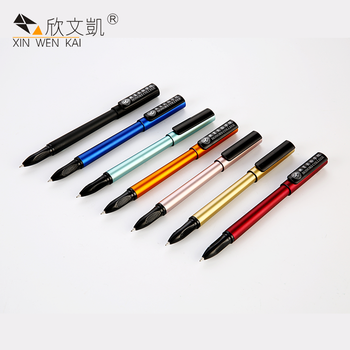 Oem Stationery Wholesale Multi Color School Customized You Own Logo Plastic Gel Ink Pen