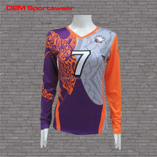 Color sublimation printed women volleyball jersey designs