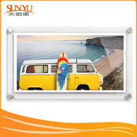 Wholesale High Transparent poly acrylic antique photo frame for promotional