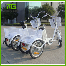 China 3 wheel 250W brushless motor electric cargo bike tricycle electric bicycle for cargo
