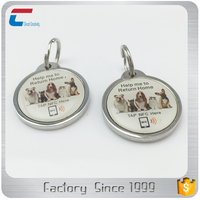 ANIMAL RESCUE Buy QR code NTAG 213 RFID NFC gps tracking system ,custom LOGO printing Hang Tag