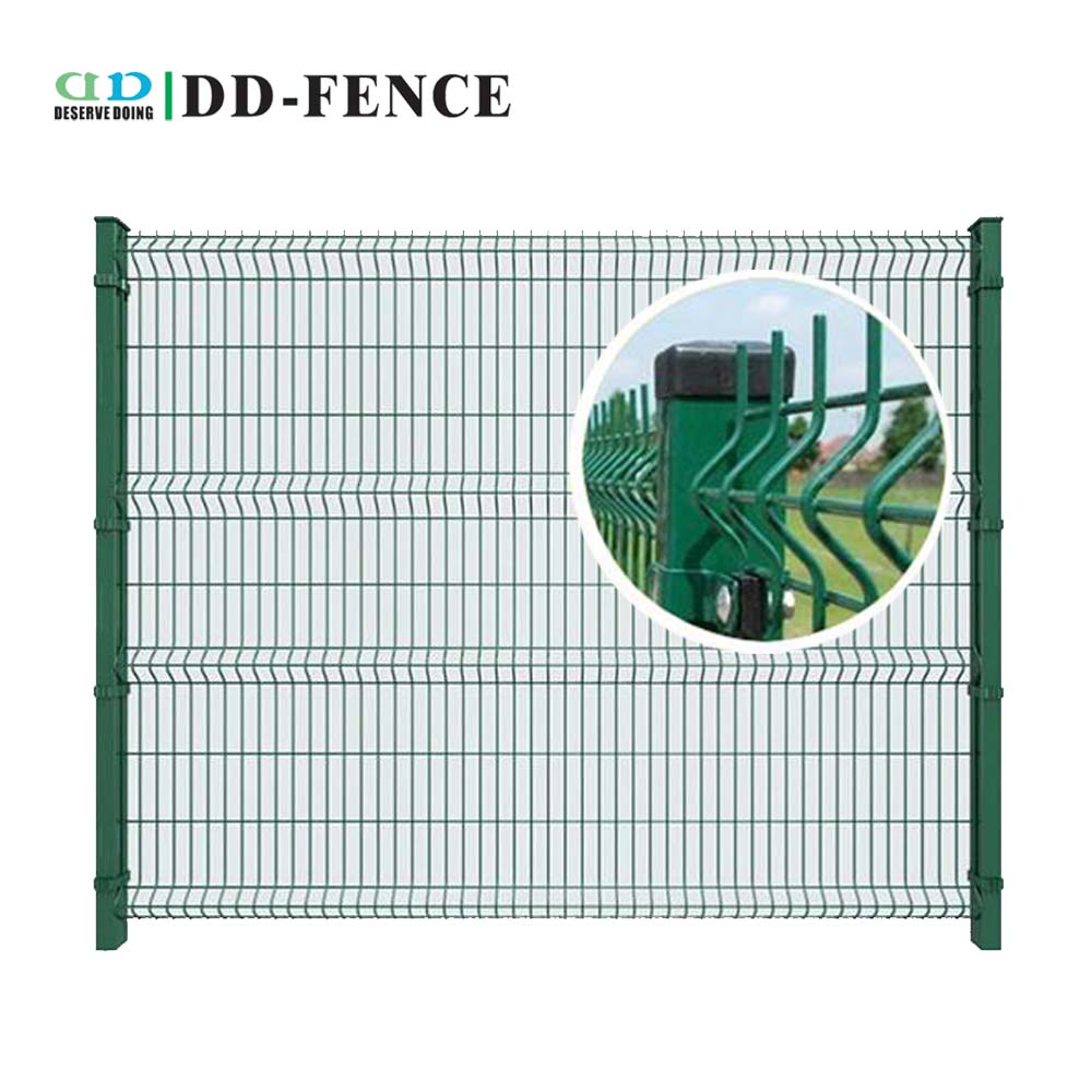 2017 hot sale double wire welded mesh fence panel from China