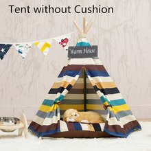 Dubai lightweight colorful canvas pet tent house durable dog teepee for sale