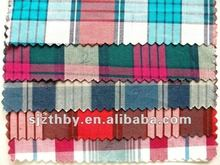 garment ues big check cotton yarn dyed fabric