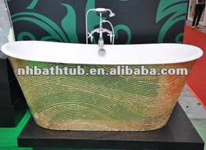new free-standing cast iron bathtubs/skirted mosaic bathtubs