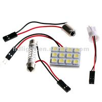 T10 auto car led light-12SMD replacement car dome/ceiling/reading/interior bulb
