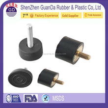 Customized silicone radiator rubber engine mount with metal plate