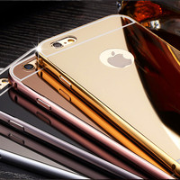 Stock Mirror Phone Cover for Iphone 4S Metal Aluminum Frame Bumper Case