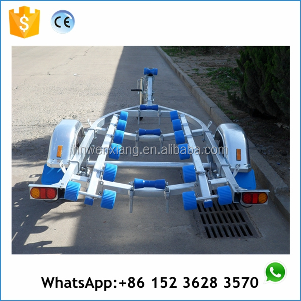 semi-trailer pedal boat trailer with spring axle dolly mud