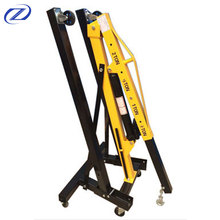 3 ton portable manual hydraulic folding small shop crane