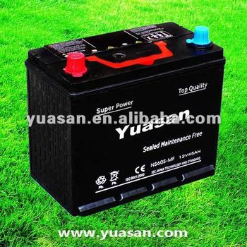 Yuasan 12V45AH Sealed Maintenance Free Car Battery