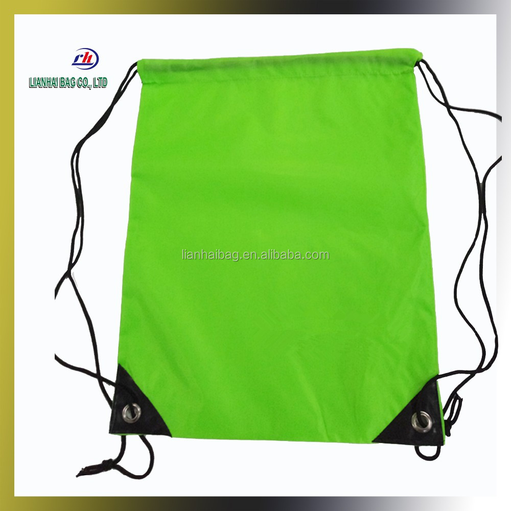 210D/420D Waterproof Polyester school bag drawstring Gym Sack with custom logo