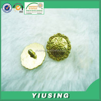 Yiu Sing strong shiny gold standard metal stud for leather