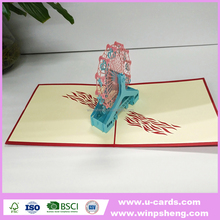 Handmade 3d pop up greeting cards for 2018 new year