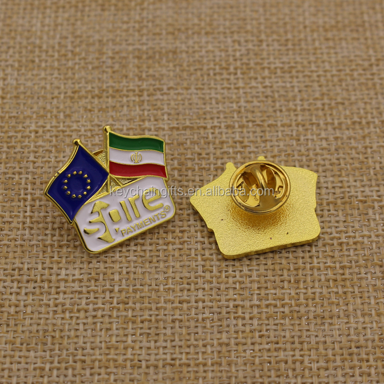 Gold plating ink filled flag sean hannity lapel pin