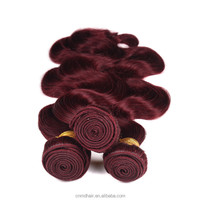good quality wine red 8A Brazilian Virgin Hair Body Wave human hair weave