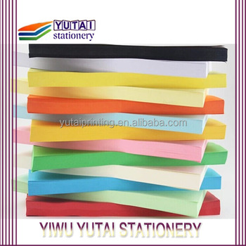 80gsm A4 size color paper with 10 colors mixed