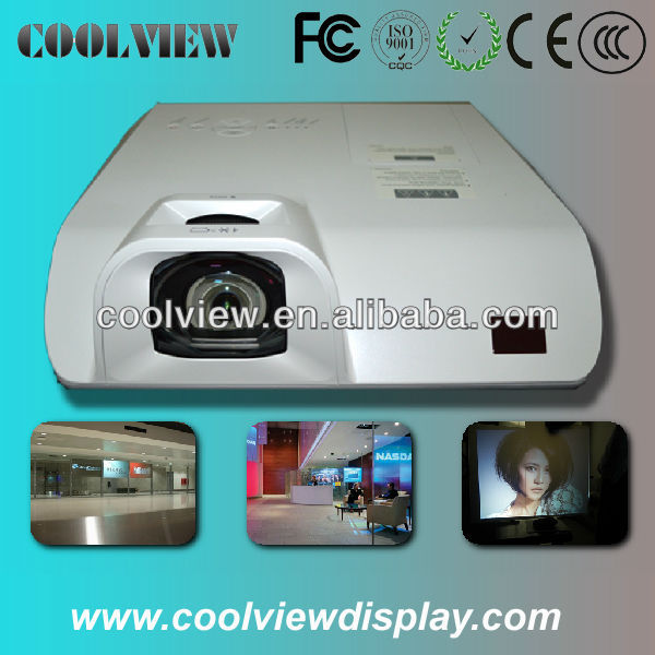 High Brightness 3000Ansi 3D Ultra Short Throw Rear Daylight DLP Video Interactive Projector For Education Business Advertise