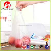HDPE Plastic Type and Accept Custom Order t-shirt shopping bag