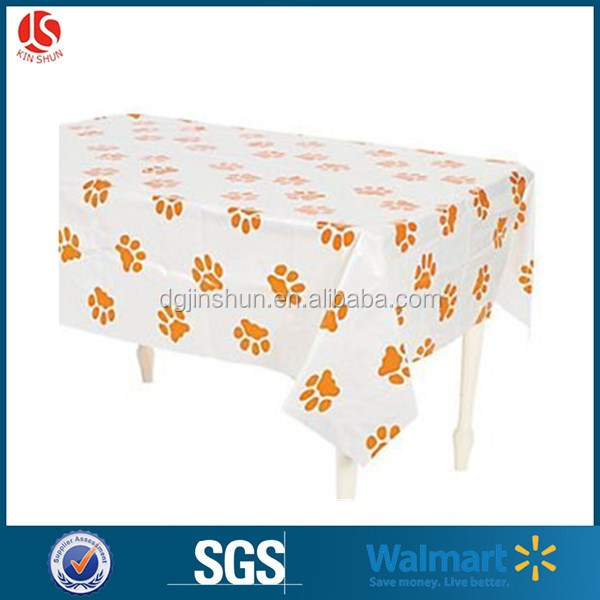 2017 Everyday Factory Price Birthday Party Table Cloth Cover / Disposable Dinning Table Cloth