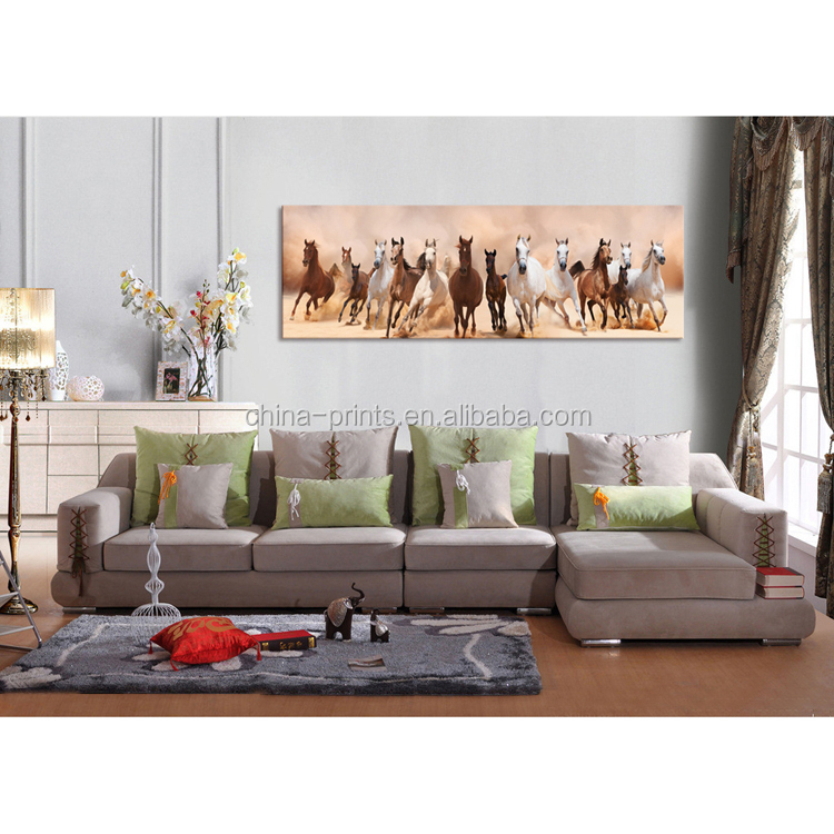 Modern Animals High Quality Running Horses Painting On Canvas For House Decor Oil Painting