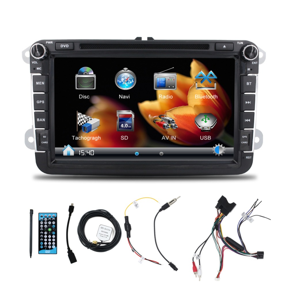8 inch touch screen video format for car stereo with DVD VCD Radio Bluetooth GPS Music SWC for VW