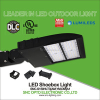 UL DLC Listed 150W led pole light can be used as parking lot light or street light