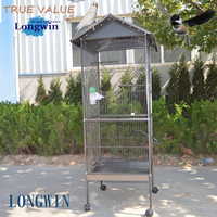 Large size aviaries parrot bird cage with drinker and feeder parrot cages hot sale pet product