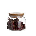 Factory Wholesale 400ml/13oz glass jars with bamboo lid,Tea/Coffee Storage Jars,Glass Storage Jars
