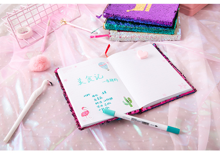 BSCI factory audit A5 magic flip reversible sequin notebook
