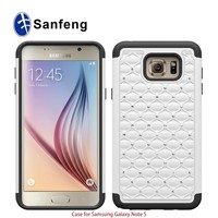 Bling bling gel jewel telephone case for galaxy samsung note 5 samsung note 5 edge excellent quality cover