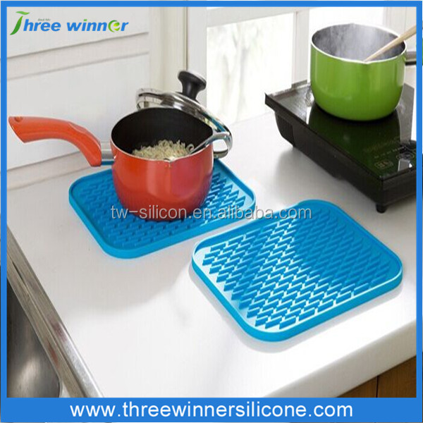 custom kitchen holder pot mat table silicone mat for pot