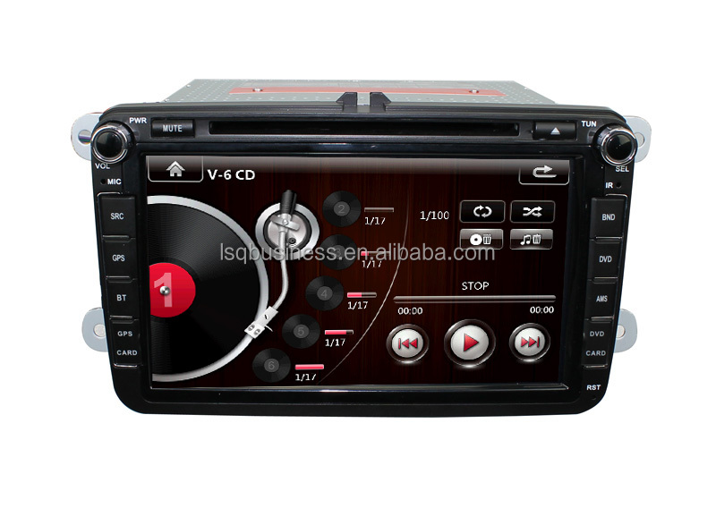 Wholesale! 8inch 2din Multimedial VW Car DVD GPS Navigation for GOLF 6 new polo New Bora JETTA B6 PASSAT SKODA GPS Map