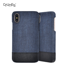 New Design Leather Case for iphone X Jeans Texture Back Cover Ultra Slim Mobile Phones Leather Case for iphone X