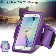 Waterproof Sport Running Armband For Samsung Galaxy S6/S6 Edge Gym Mobile Phone Arm Holder Belt Brush Leather Case